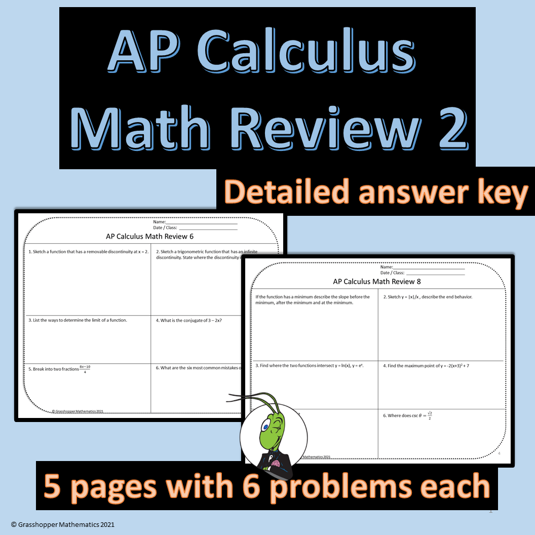 AP Calculus Downloadable Teaching Resources