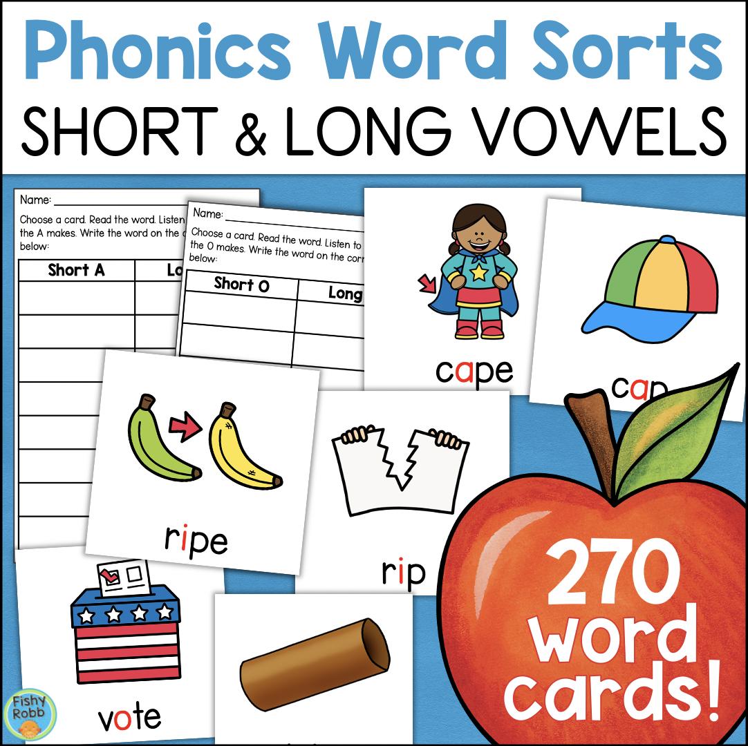 Vowels CVC CVCe Word Cards Downloadable Teaching Resources