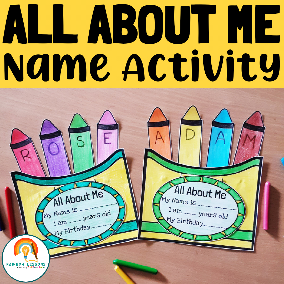 Back to School All About Me   Name Activity