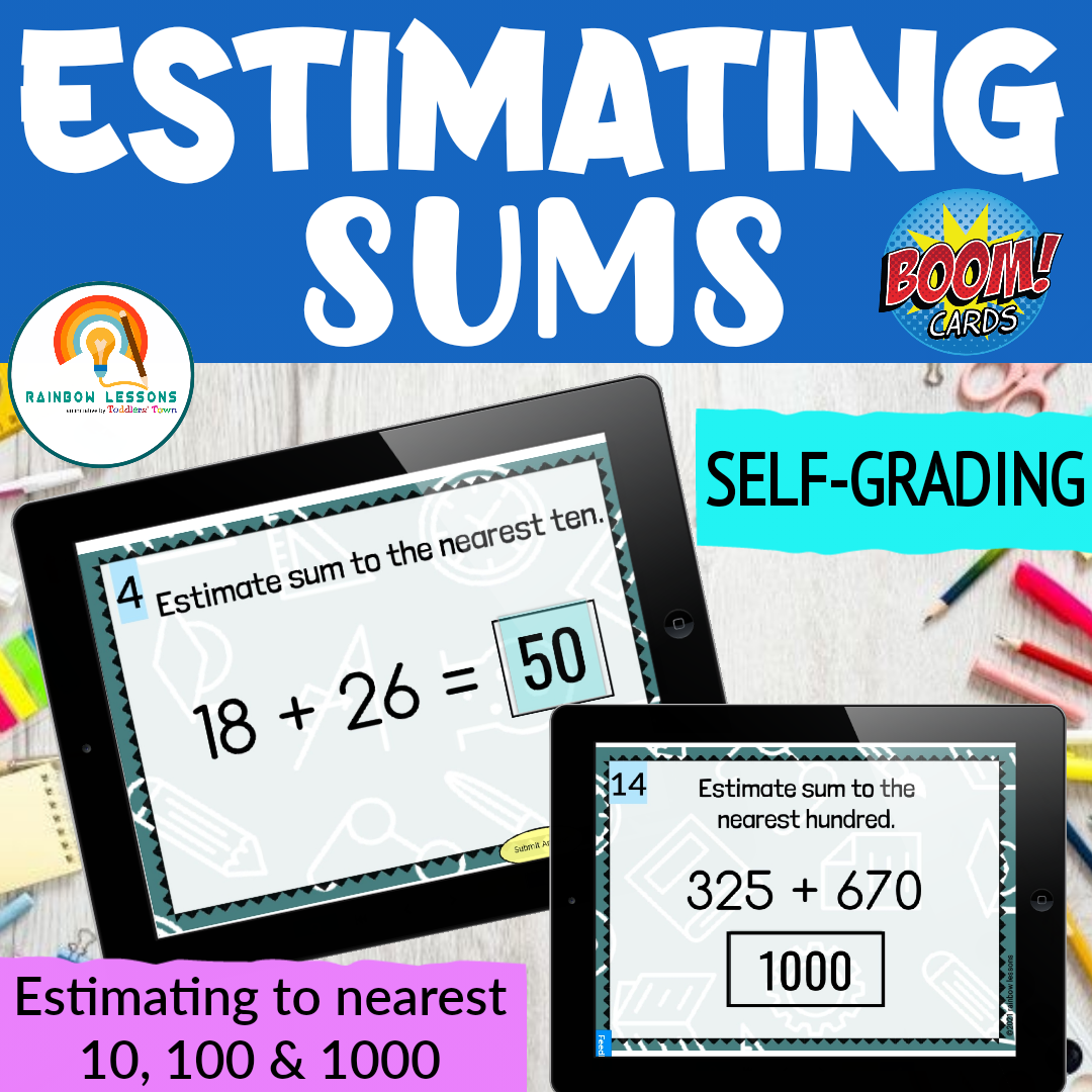 Estimating Sums | Rounding to the nearest 10 & 100