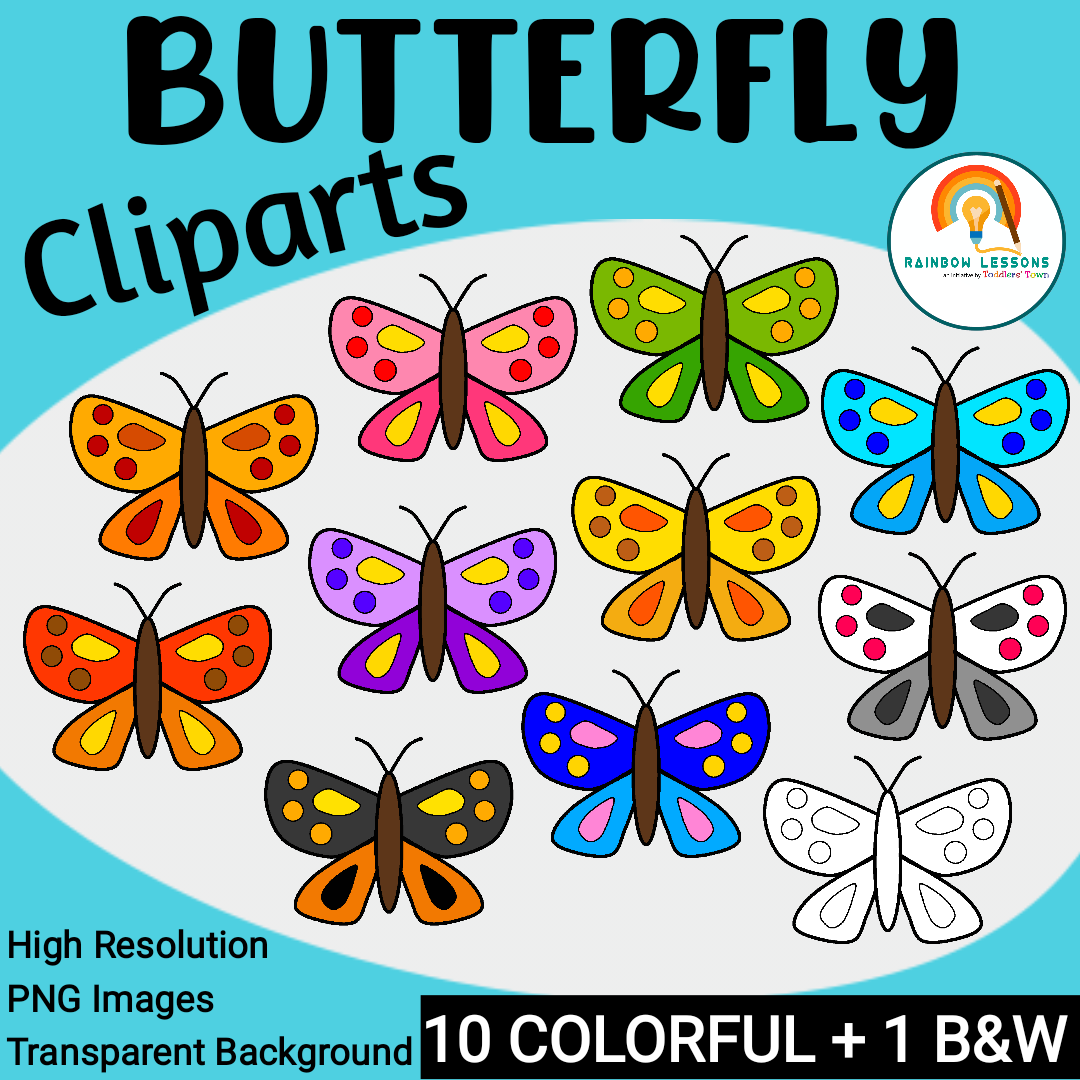 Butterfly Cliparts   Colorful Butterflies Clip Art