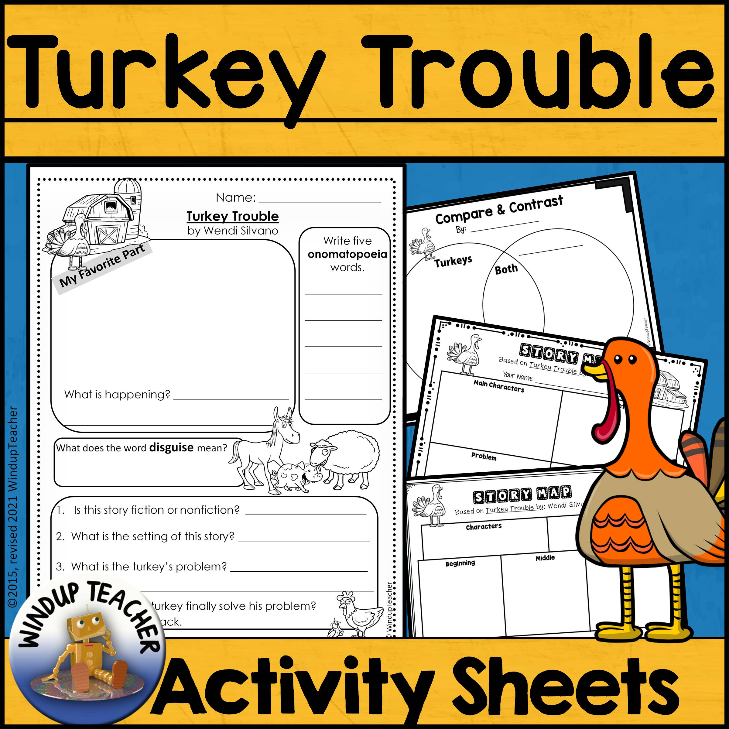 Turkey Trouble Activity Sheet | Print & Go!
