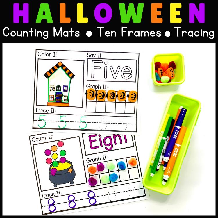 Morning Work Halloween Counting Activities