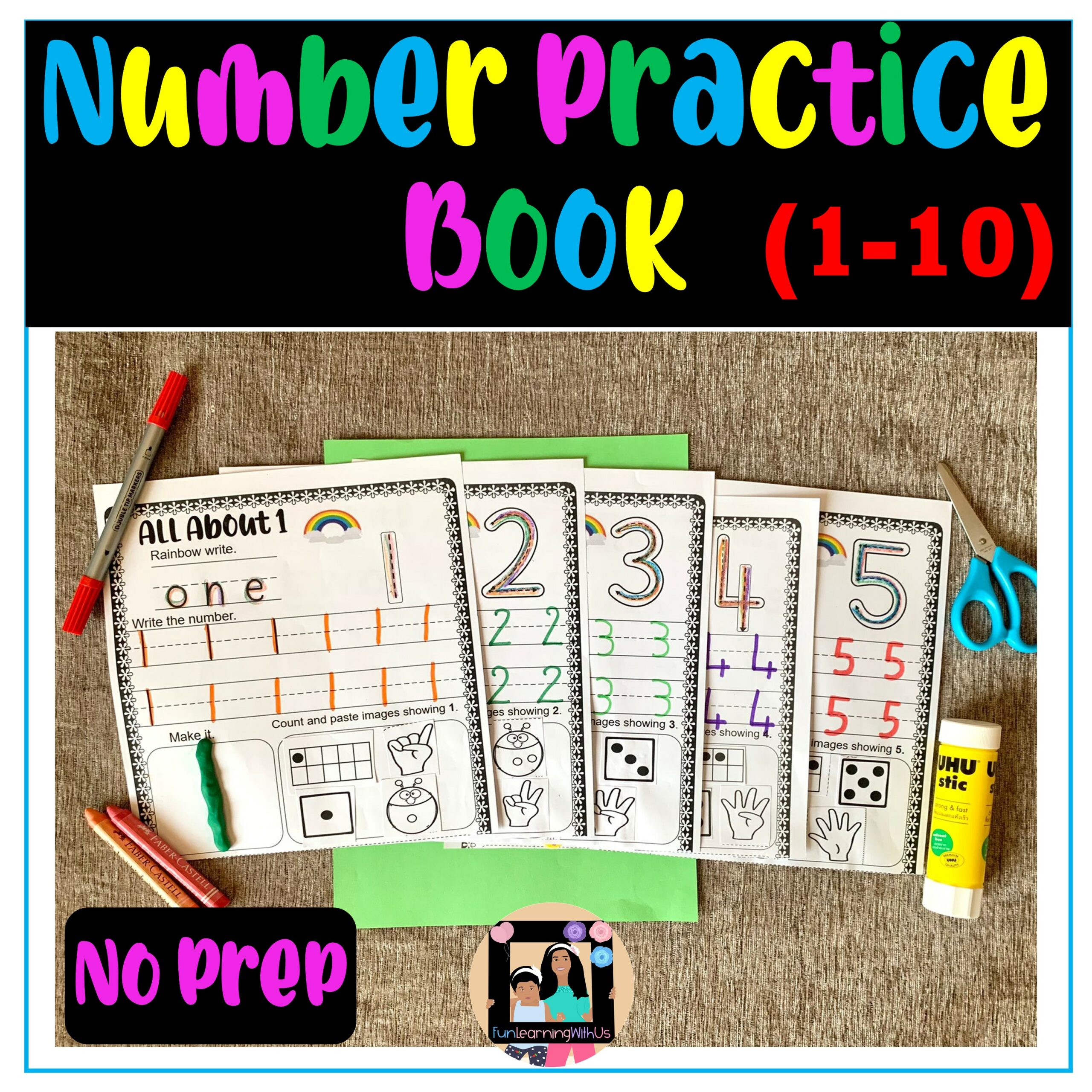 My Number Practice Book (1-10)