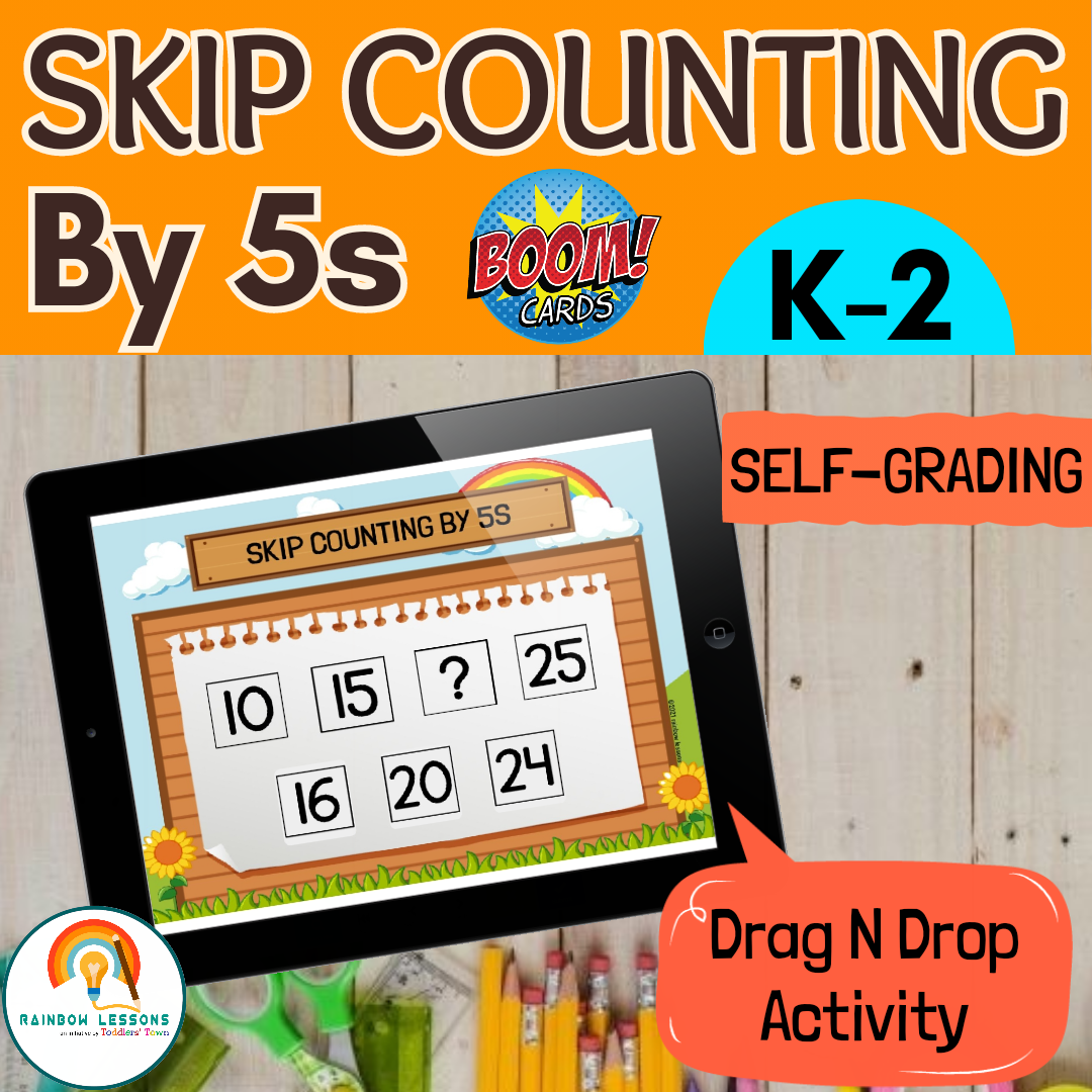 Skip Counting Numbers by 5s to 100 Boom Cards