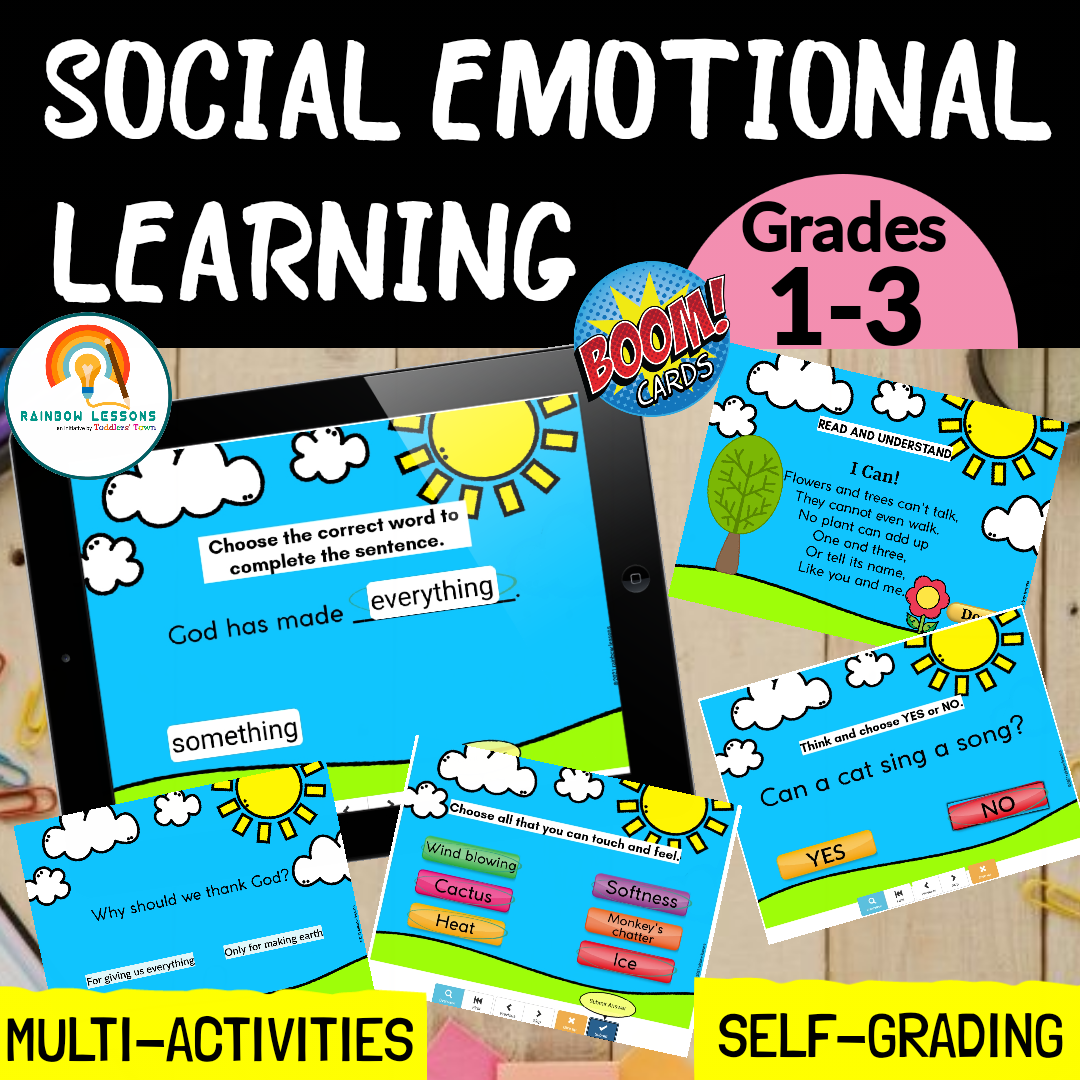 Social Emotional Learning Activities Boom Cards
