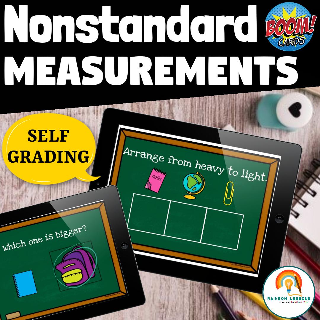 Nonstandard Measurements Activities Boom Cards