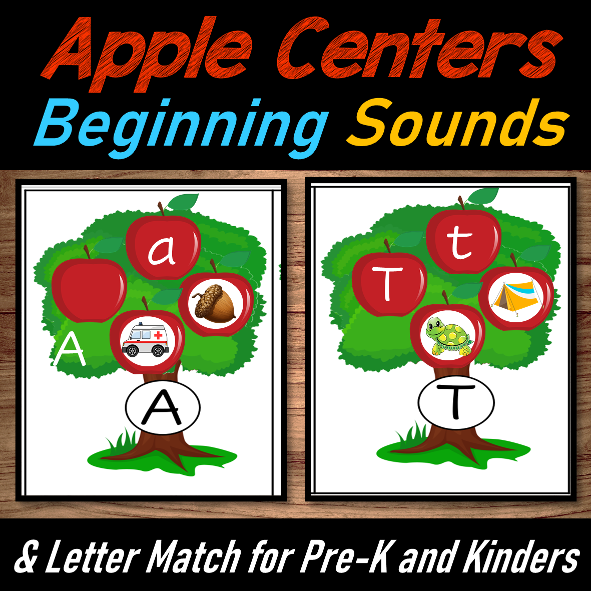Apple Beginning Sounds and Letter Match