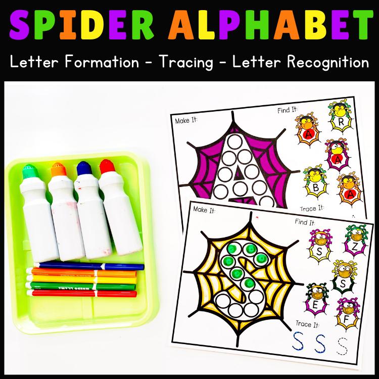 Alphabet Formation Halloween Theme Worksheets