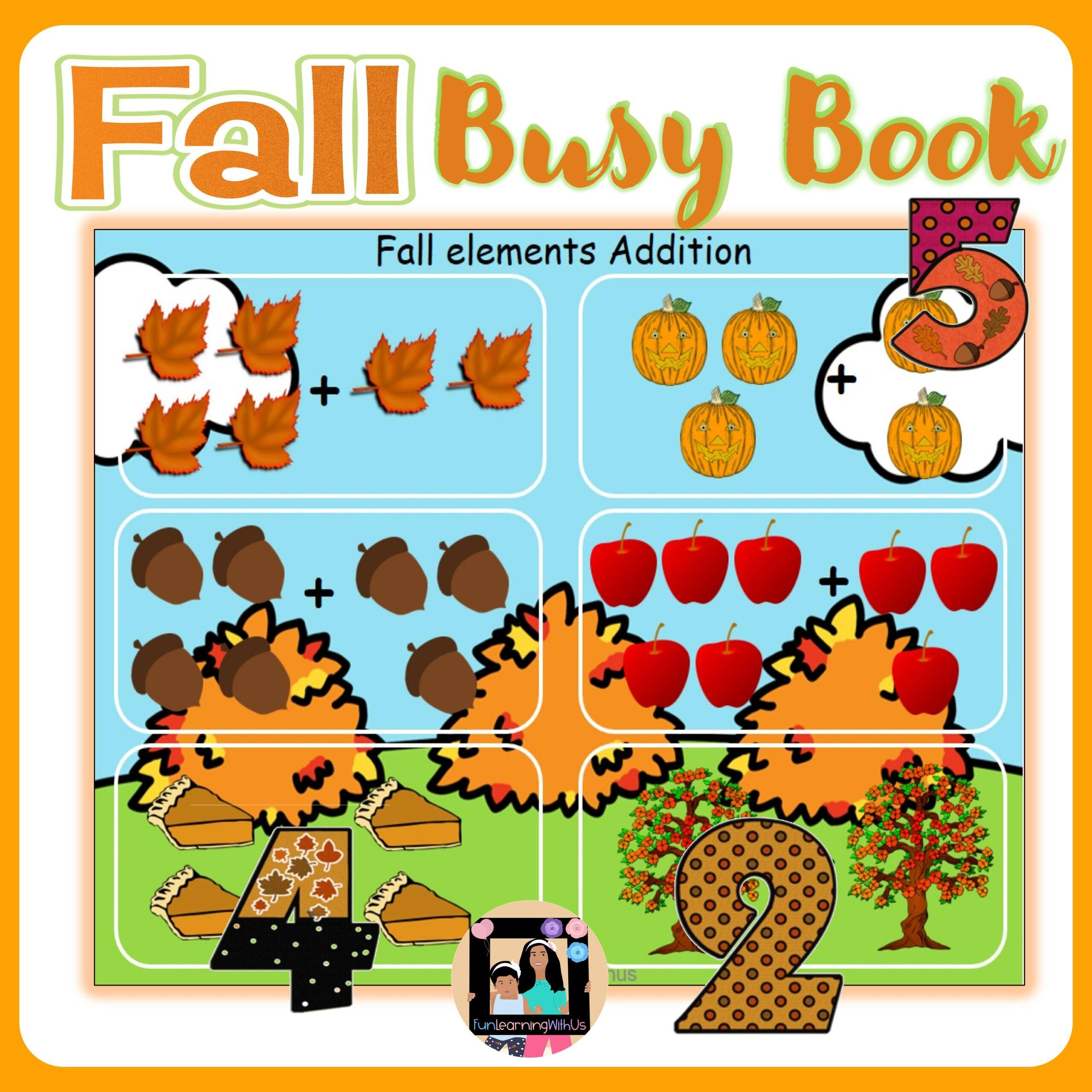 Fall Busy Book for Preschool - Kindergarten|Seasons