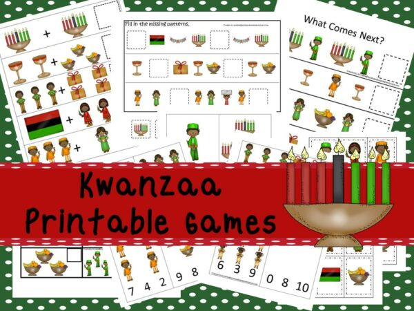 Downloadable Teaching Resources Kwanzaa Printable Games