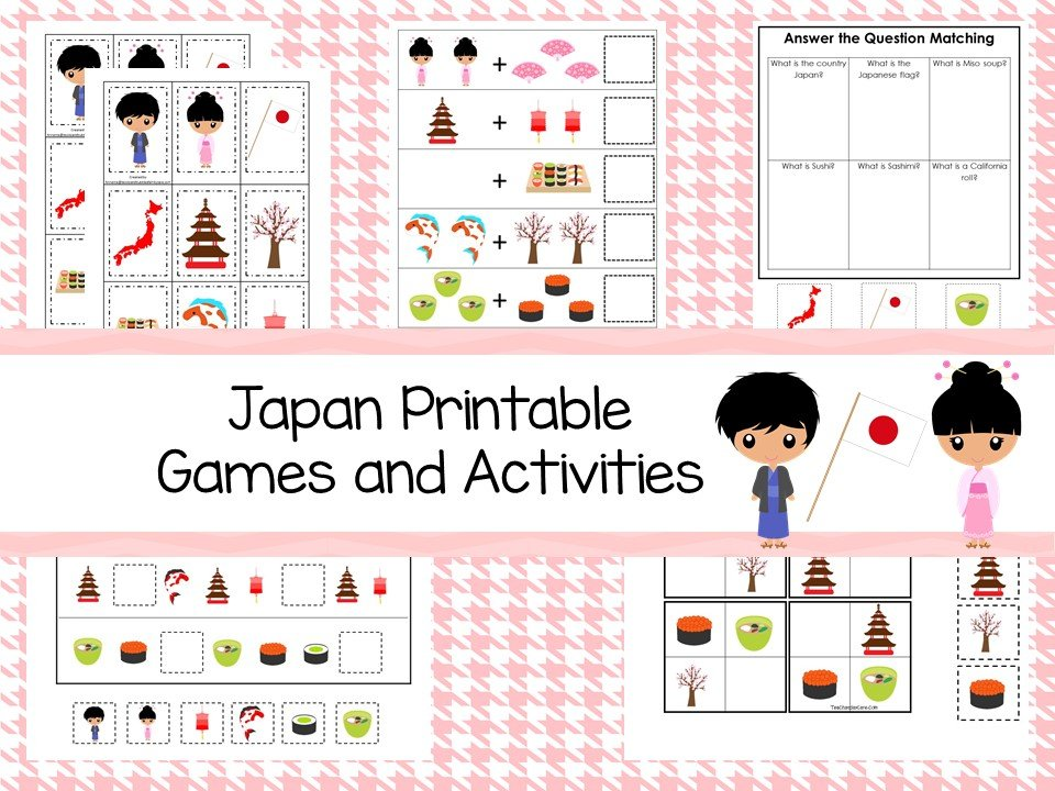 Downloadable Teaching Resources Japan Printable Games and Activities