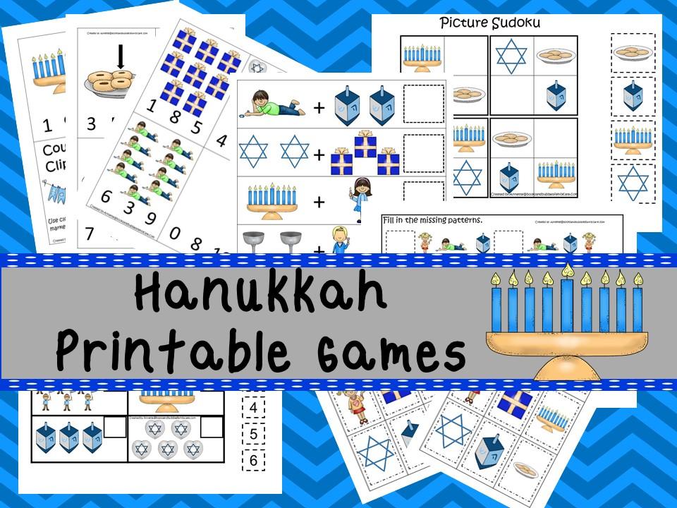 Downloadable Teaching Resources Hanukkah Printable Games