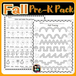 Fall Learning Activities Pack for Preschool