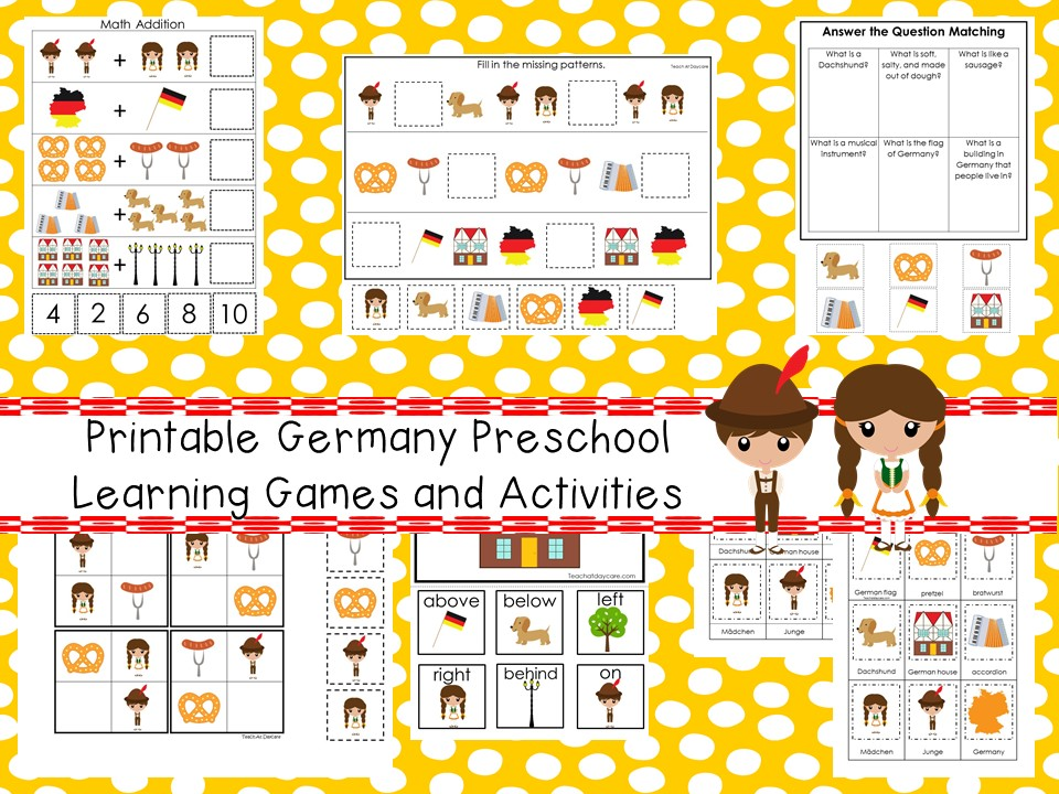 Downloadable Teaching Resources Printable Preschool Learning Games and Activities
