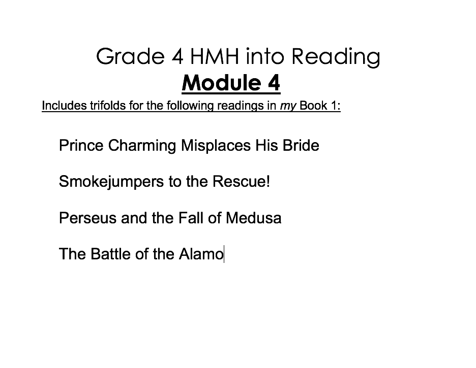Downloadable Teaching Resources Grade 4 HMH Into Reading