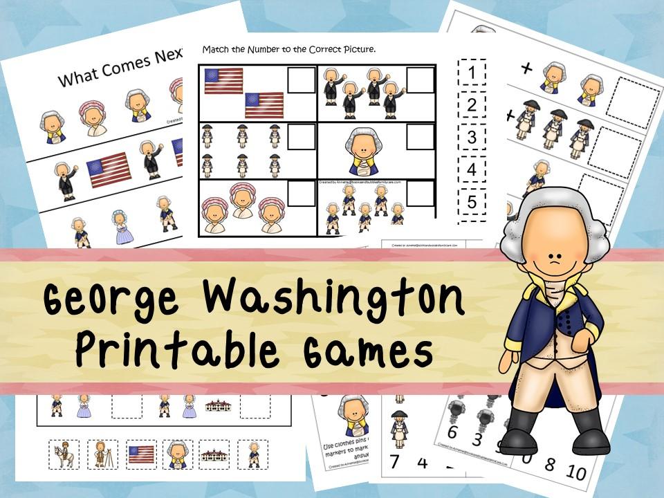 Downloadable Teaching Resources George Washington Printable Games