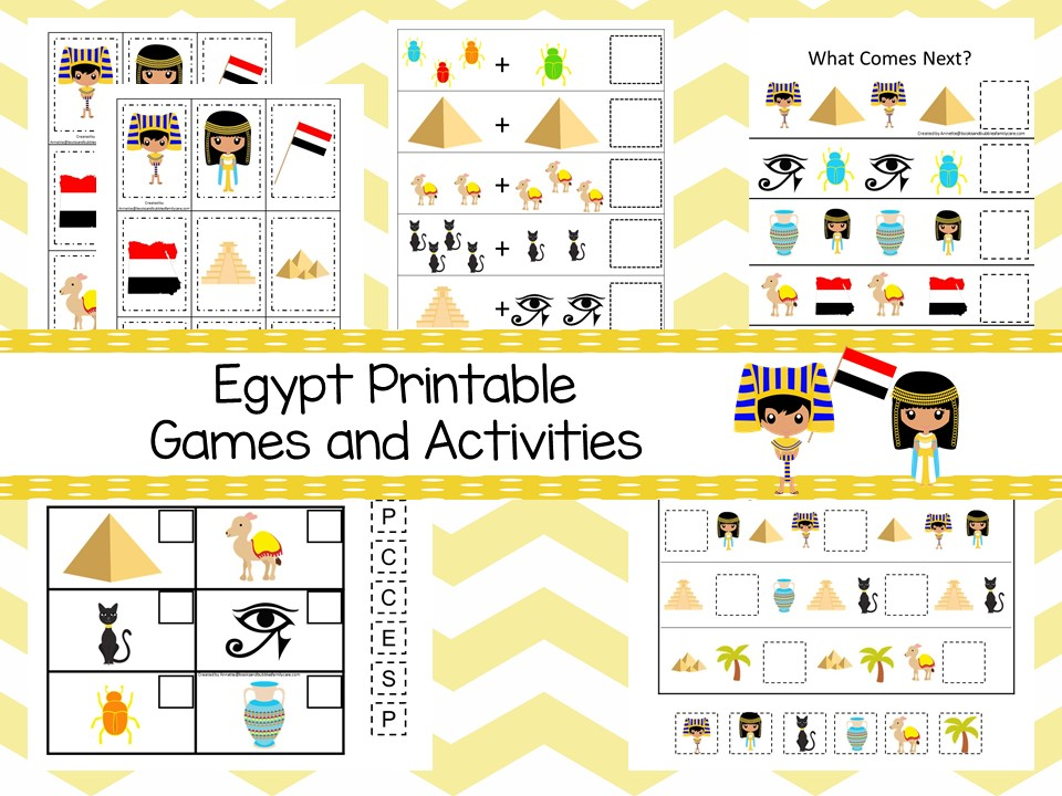 Downloadable Teaching Resources Egypt Printable Games and Activities