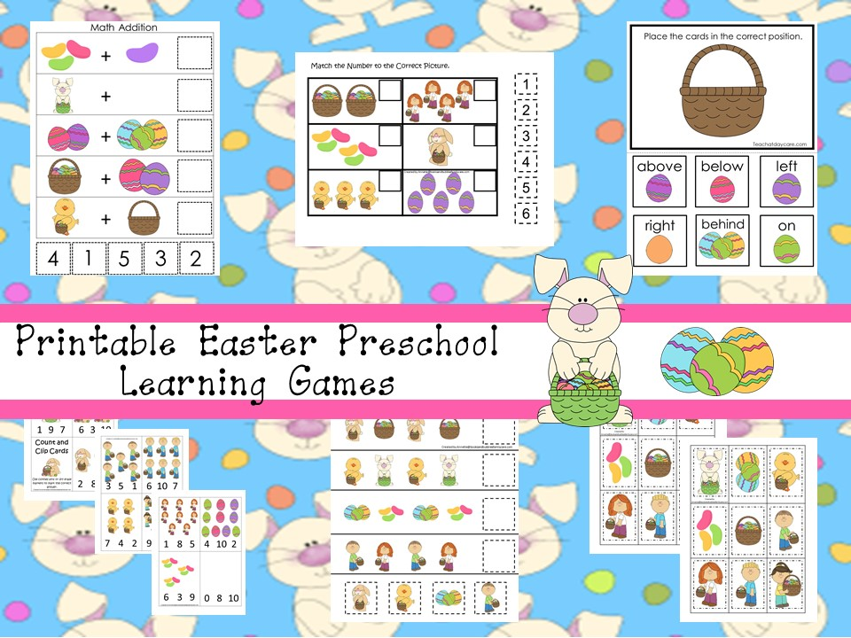 30 Printable Easter Educational Learning Games