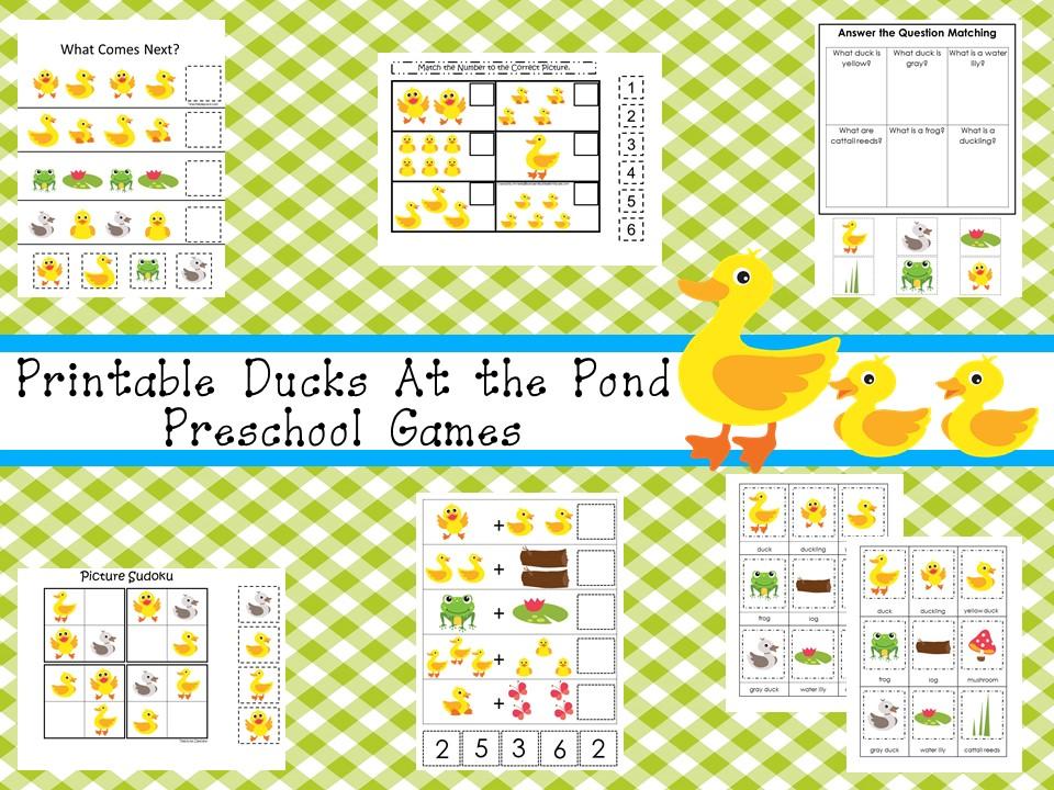 30 Printable Ducks Educational Learning Games