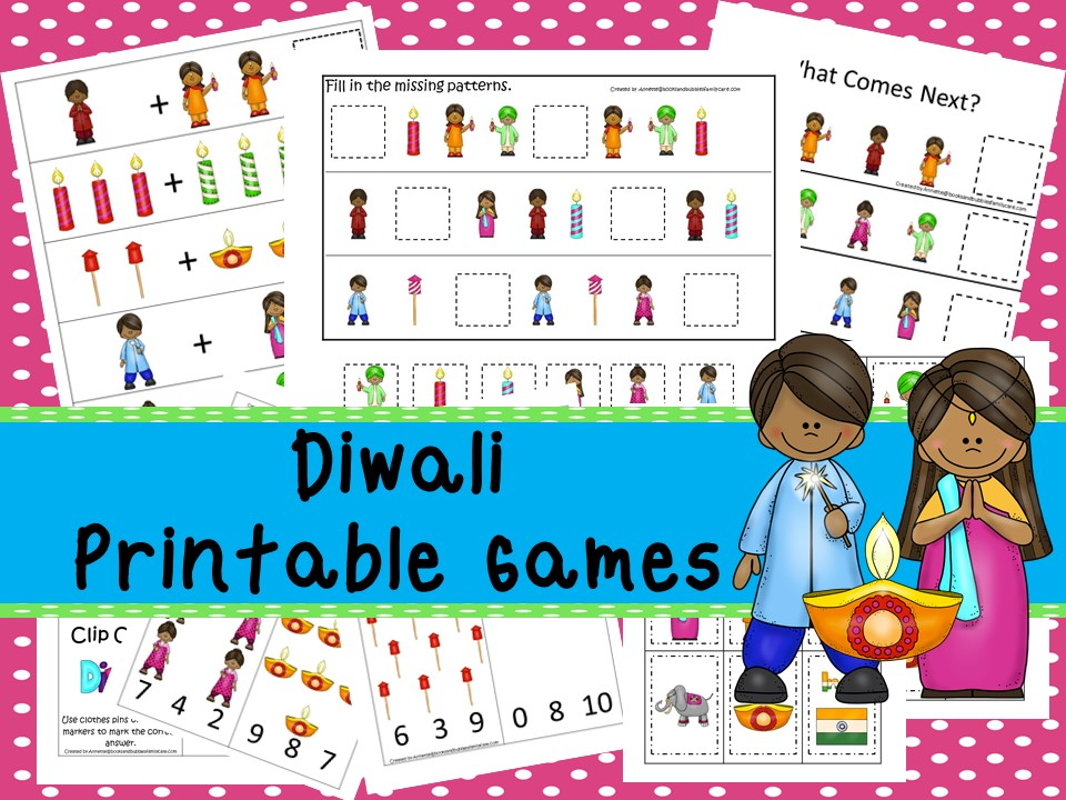 30 Printable Diwali Educational Learning Games