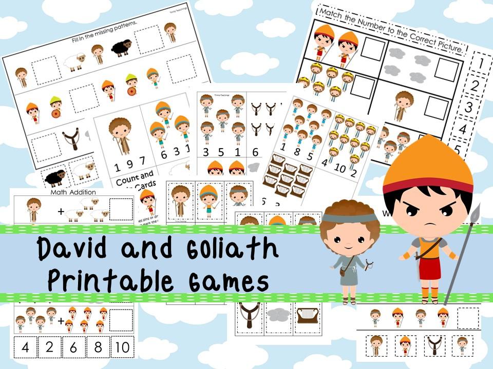 30 Printable David and Goliath Bible Study Games