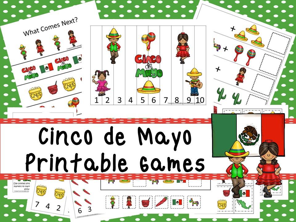 30 Printable Cinco de Mayo Learning Games