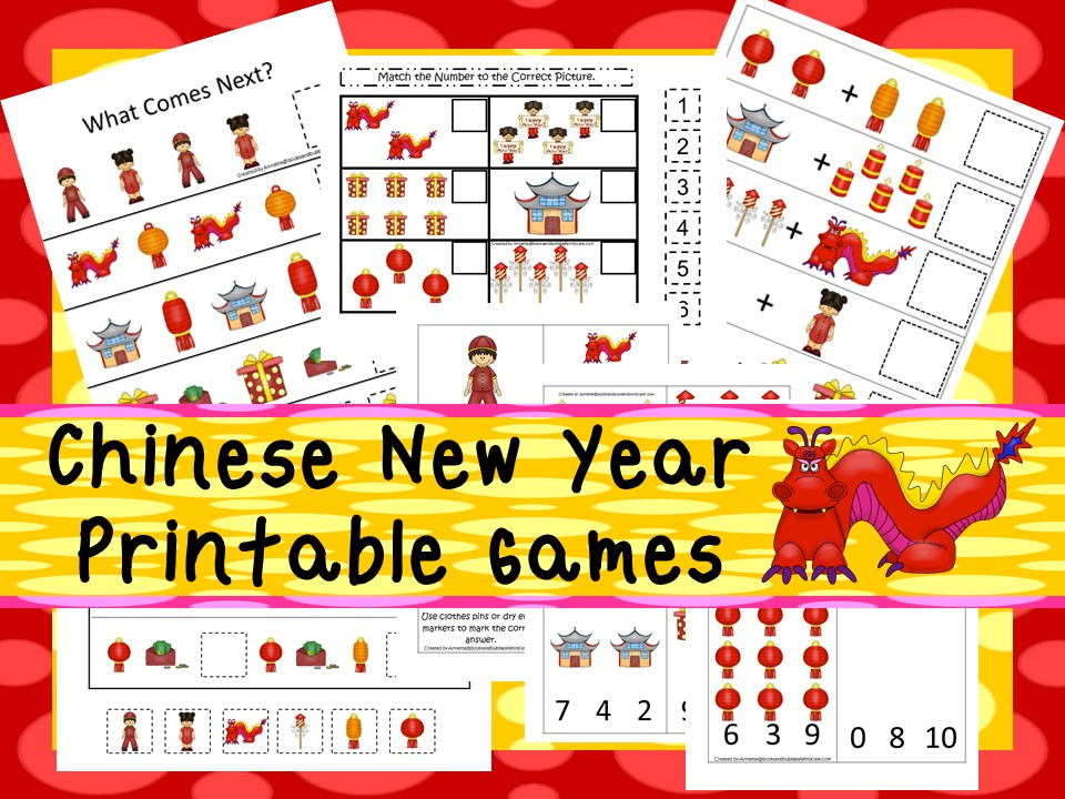 30 Printable Chinese New Year Learning Games Pre K