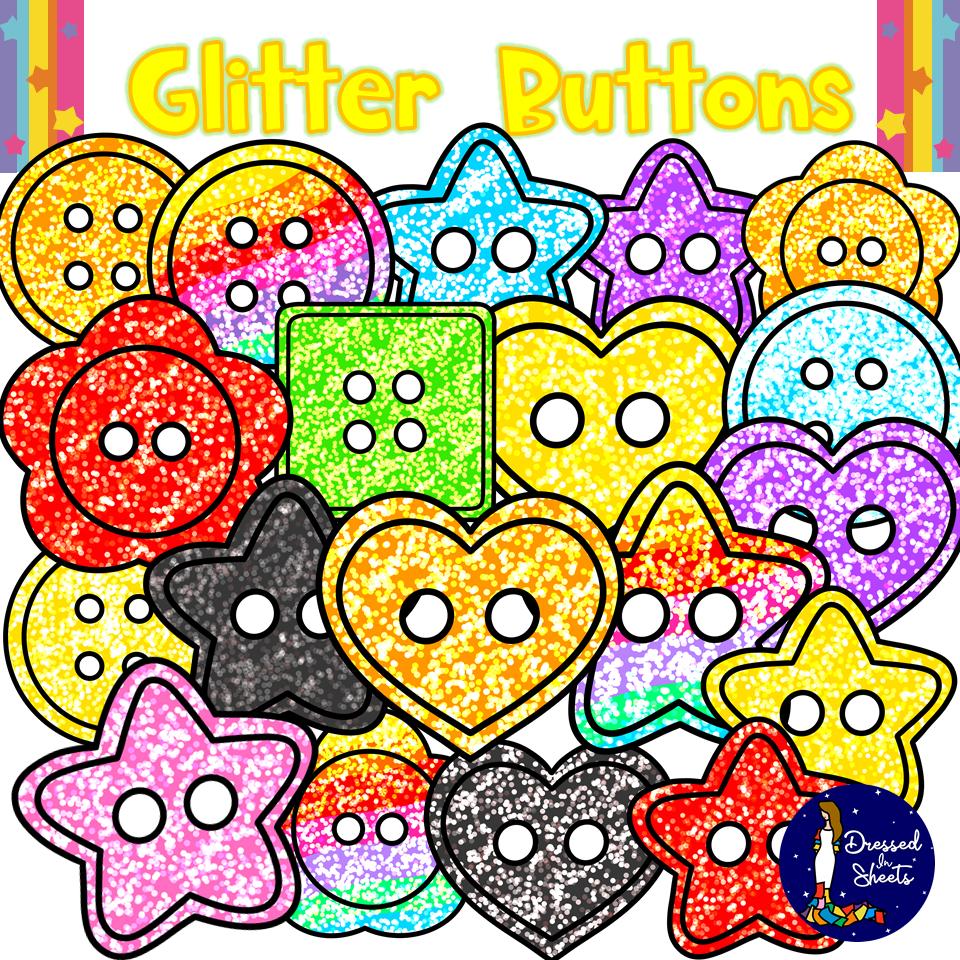 Glitter Buttons Clipart