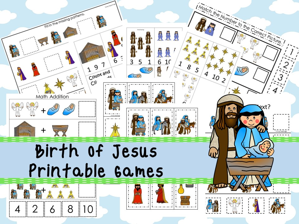 30 Printable Birth of Jesus Bible Learning Games