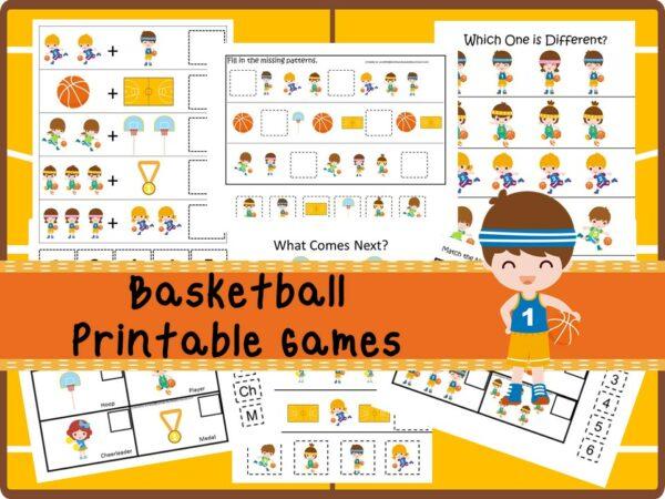 30 Printable Basketball educational learning games