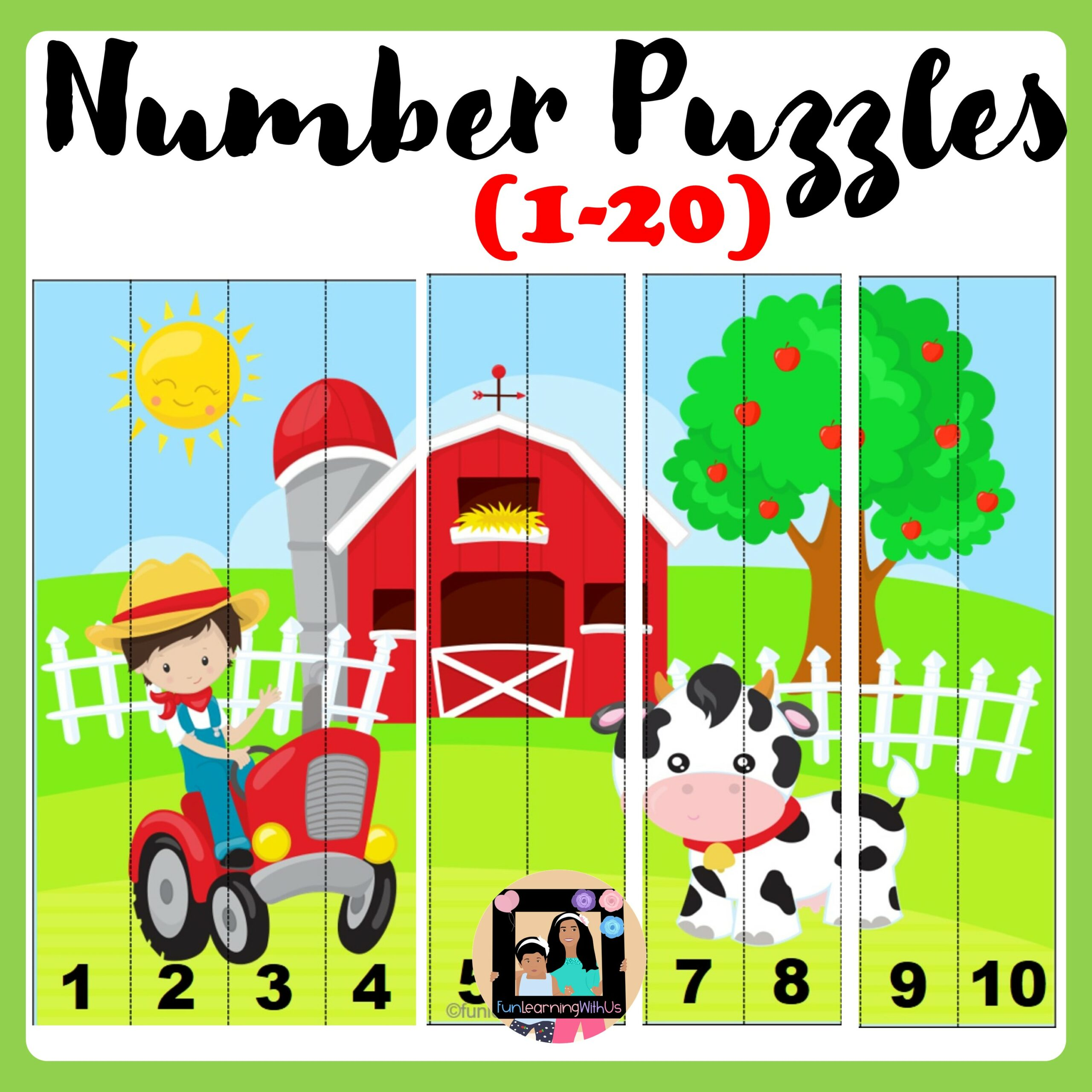 Number Sequencing Puzzle Number Sense Activity