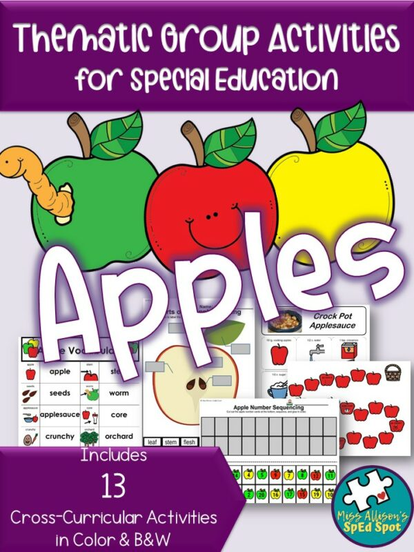 Apples Thematic Unit for Special Education