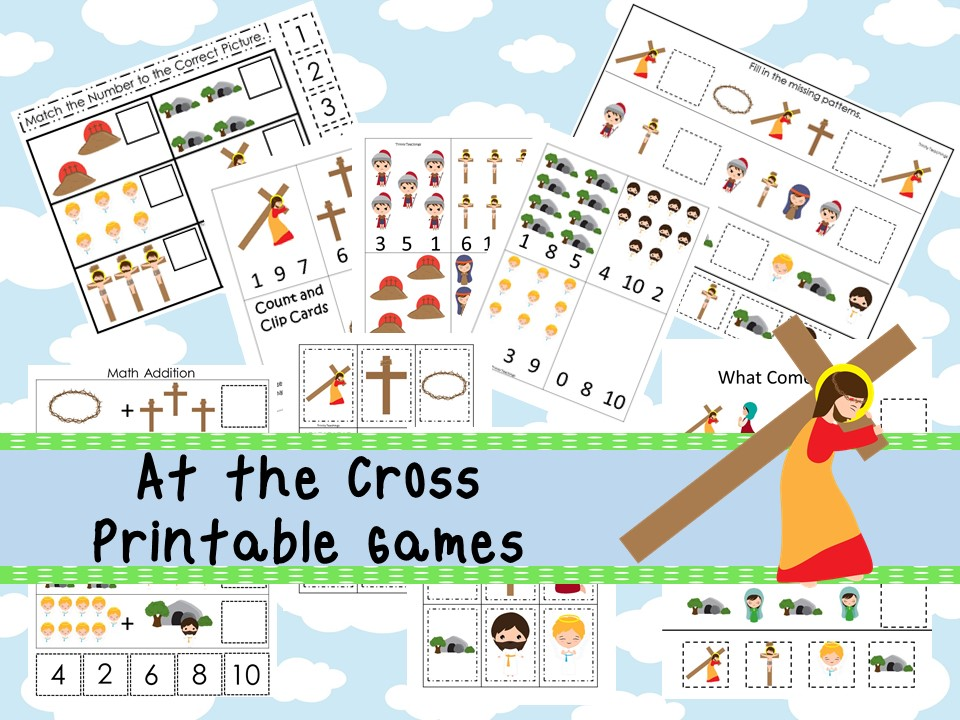 30 Printable At the Cross Bible Learning Games