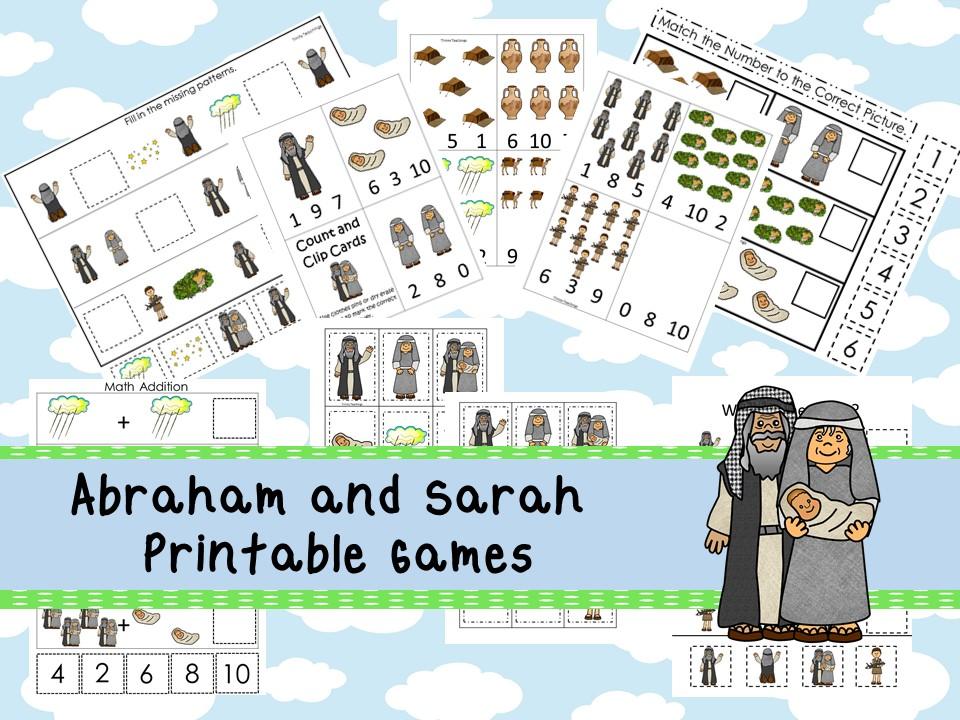 30 Printable Abraham and Sarah Bible Games