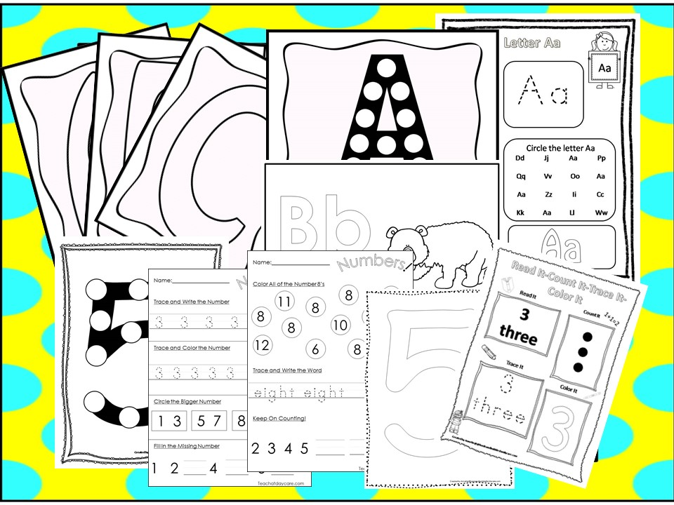 250 Alphabet and Numbers Worksheets Download