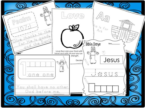 250 Bible Learning Worksheets Download