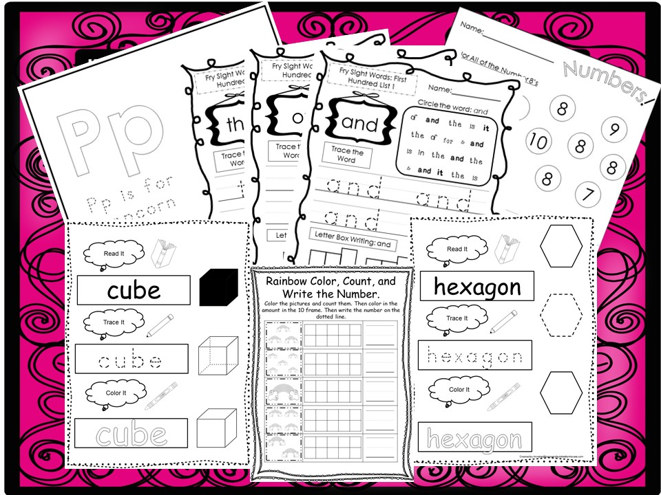 260 Kindergarten Worksheets Download. Preschool