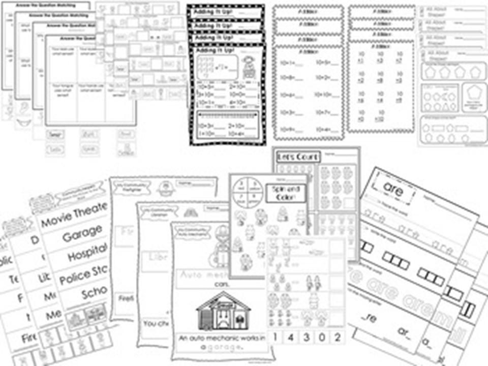 277 Advanced Kindergarten Worksheets Download