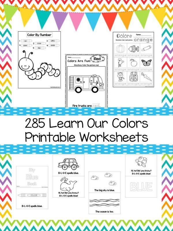 250 Printable Preschool Learn Our Colors Worksheet