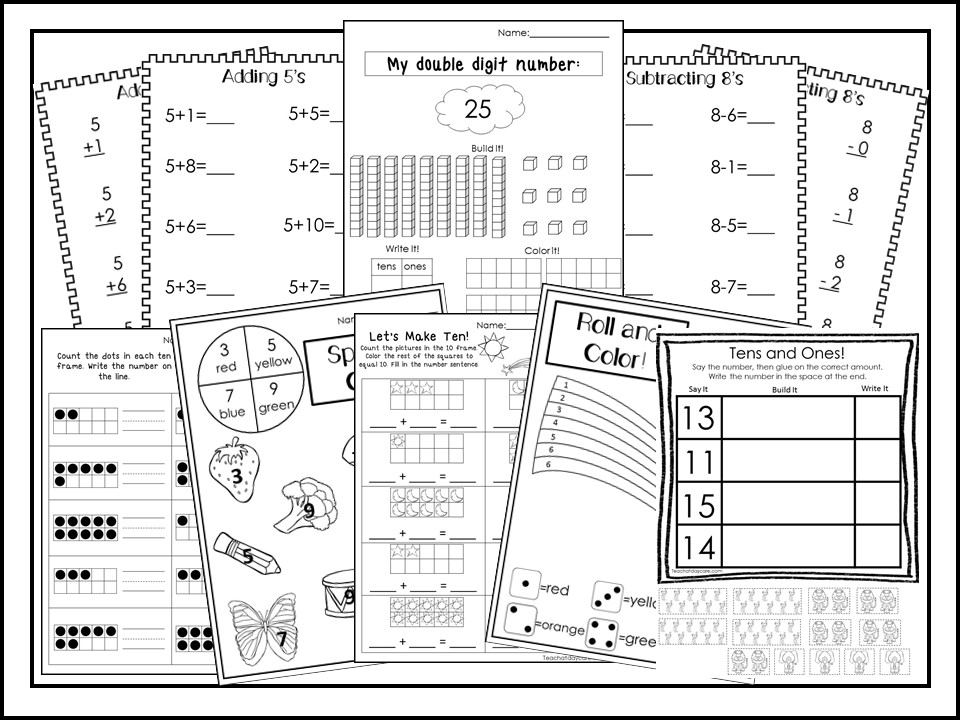 286 Addition and Subtraction Worksheets Download