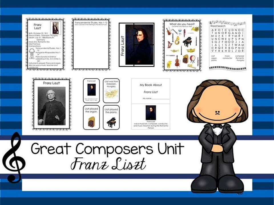 Franz Liszt Great Composer Unit. Music