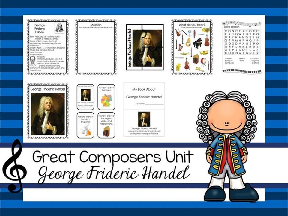 George Frideric Handel Great Composer Unit. Music