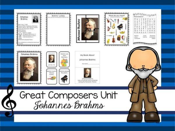 Johannes Brahms Great Composer Unit. Music