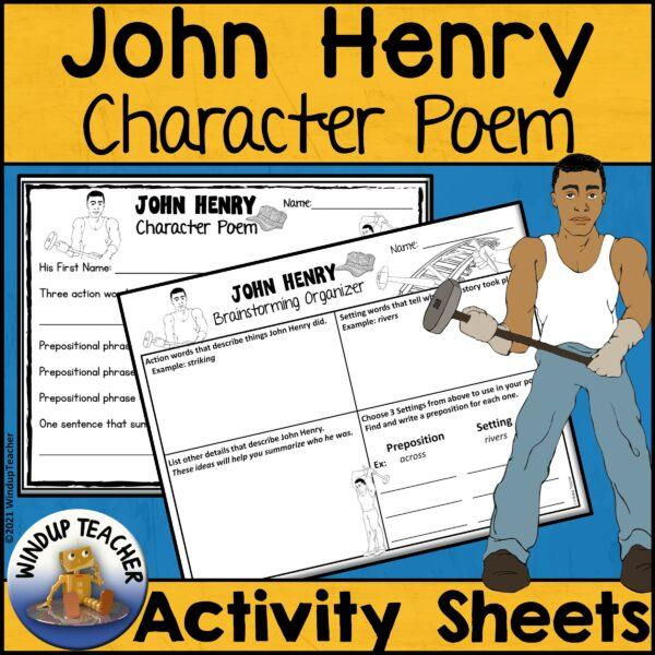 John Henry Character Poem Activity