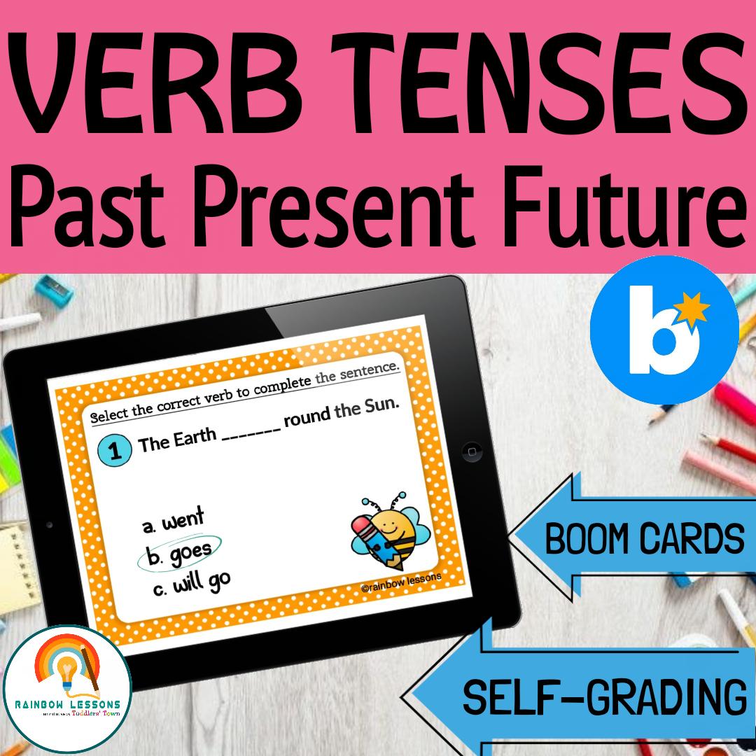 Verb Tenses Boom Cards Regular Past Tense Verbs
