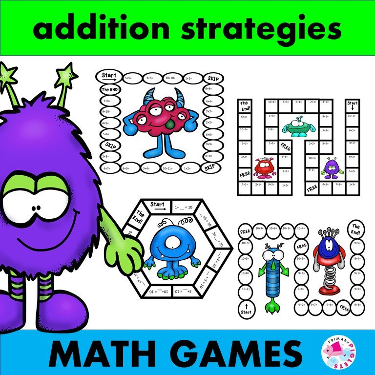 Addition Games Space Aliens