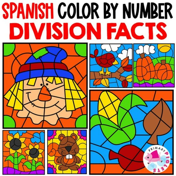 Fall Division Color by Number