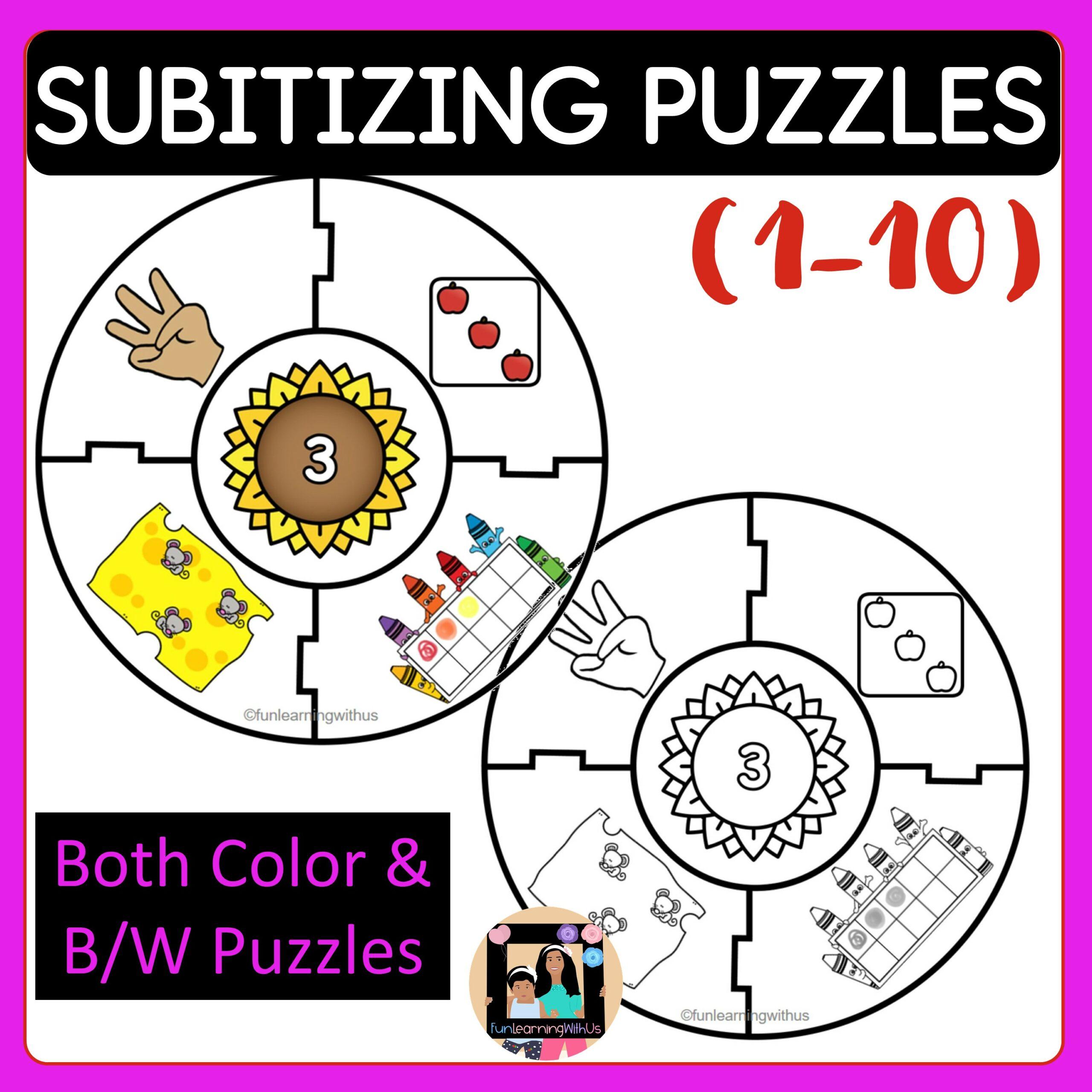 Subitizing Number Sense Math puzzles