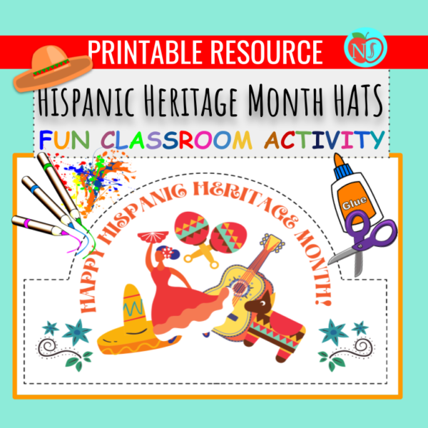 HISPANIC HERITAGE MONTH HATS | COLOR CUT AND PASTE